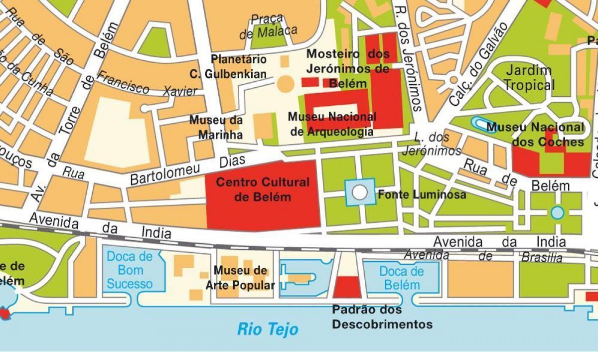 Belemben Lisszabon Terkep Terkep Belem Lisszabon Portugalia